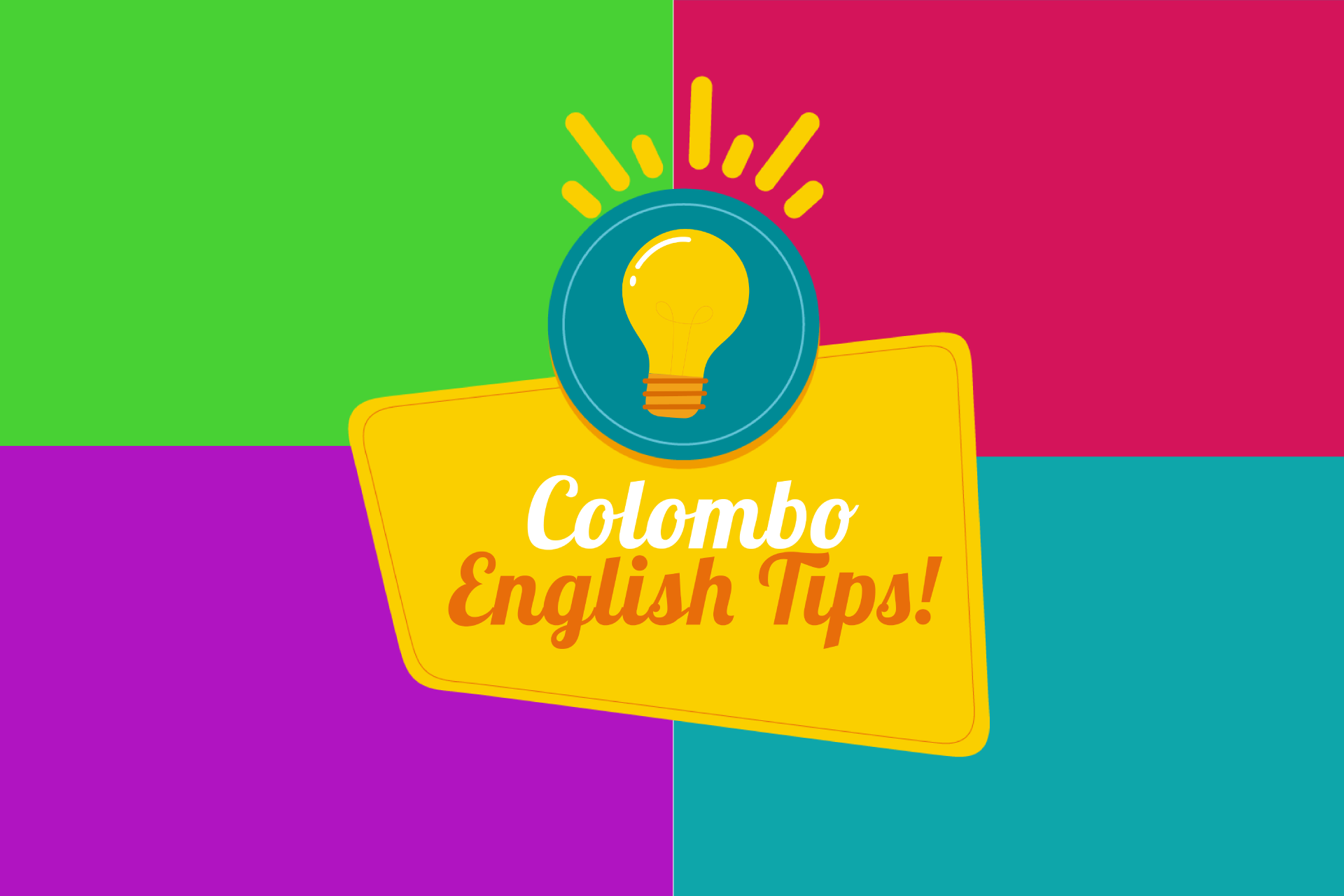Colombo English Tips